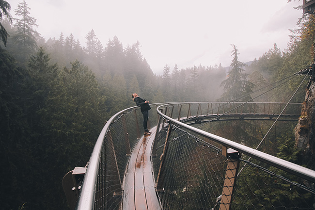 Capilano River Park and Bridge in Vancouver