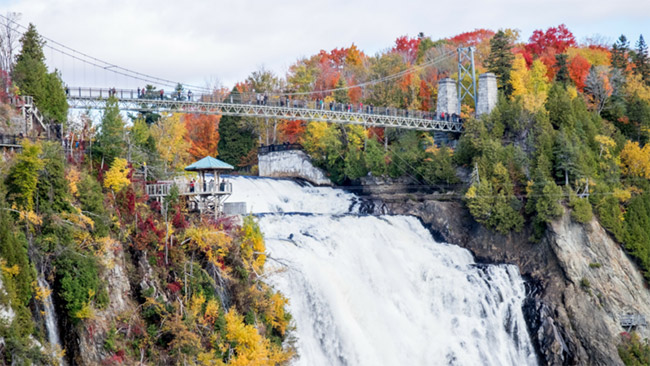 Montmorency Falls Park in Quebec City